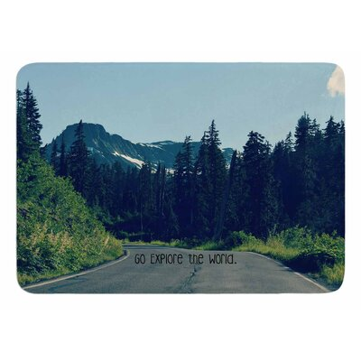 Go Explore the World by Robin Dickinson Bath Mat