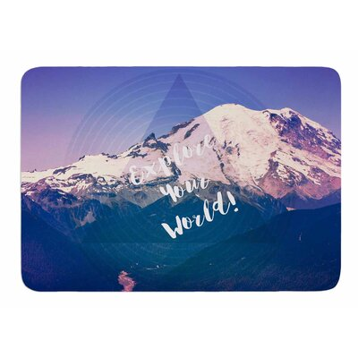 Explore Your World by Robin Dickinson Bath Mat