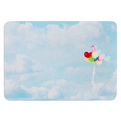 Balloons in the Sky by Sylvia Coomes Bath Mat