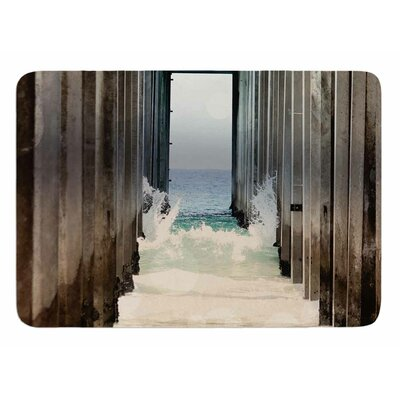 Under The Pier by Sylvia Coomes Bath Mat