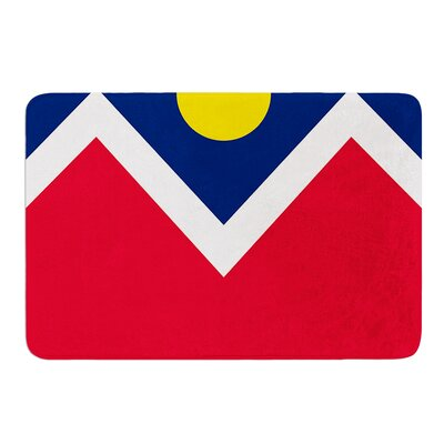 Denver Colorado City Flag by Bruce Stanfield Bath Mat