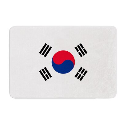 Flag of Korea by Bruce Stanfield Bath Mat