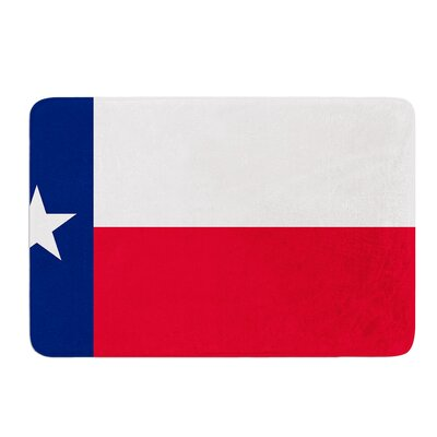 Flag of Texas by Bruce Stanfield Bath Mat