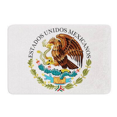 Mexico Emblem by Bruce Stanfield Bath Mat