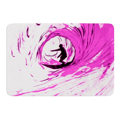 Solo Surfer by Bruce Stanfield Bath Mat
