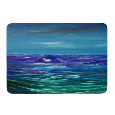 Moonlit Waves by Cyndi Steen Bath Mat
