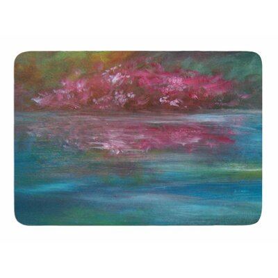 Boungainvillea Reflections by Cyndi Steen Bath Mat