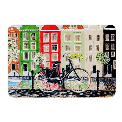 Bicycle by Christen Treat Bath Mat Size: 17W x 24L