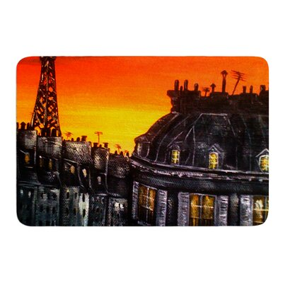 Paris by Christen Treat Bath Mat Size: 24 W x 36 L