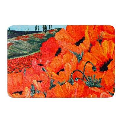 Poppies by Christen Treat Bath Mat Size: 17W x 24L