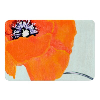 Vintage Poppy by Christen Treat Bath Mat Size: 24 W x 36 L