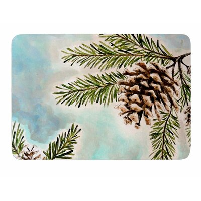 Pinecones and Sky by Christen Treat Bath Mat