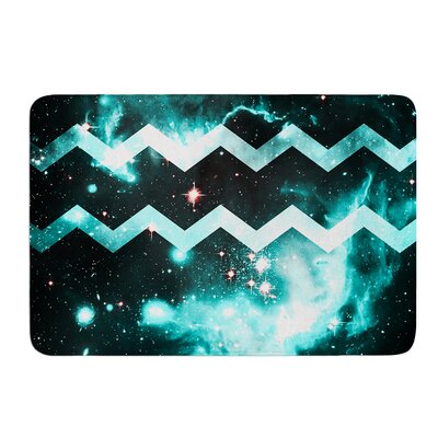Galaxy Chevron by Alveron Bath Mat Size: 17W x 24L