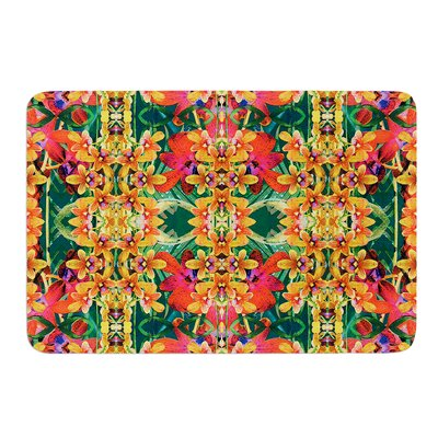 Tropical Floral by Dawid Roc Bath Mat Size: 24 W x 36 L