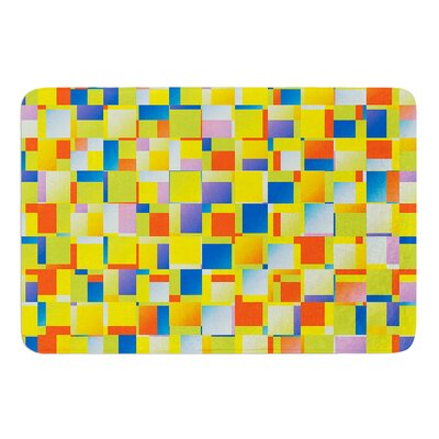 Multi Color Blocking by Dawid Roc Bath Mat Size: 17W x 24L