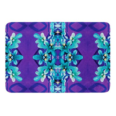 Blue Orchids by Dawid Roc Bath Mat Size: 24 W x 36 L