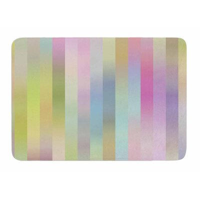Sweet Pastel Lines 1 by Dawid Roc Bath Mat