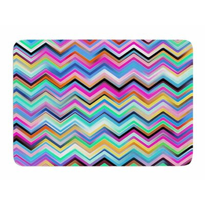 Colorful Rainbow Chevron by Dawid Roc Bath Mat