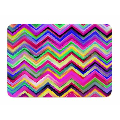 Colorful Chevron by Dawid Roc Bath Mat