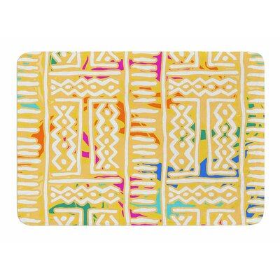 Lines And Zigzags Colorful by Dan Sekanwagi Bath Mat