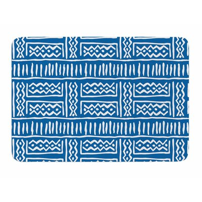 Lines And Zigzags by Dan Sekanwagi Bath Mat