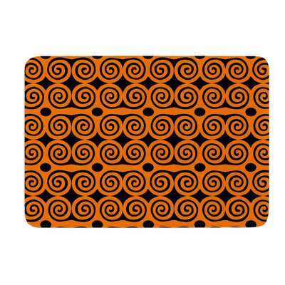 Locked Rams Horns Contra by Dan Sekanwagi Bath Mat