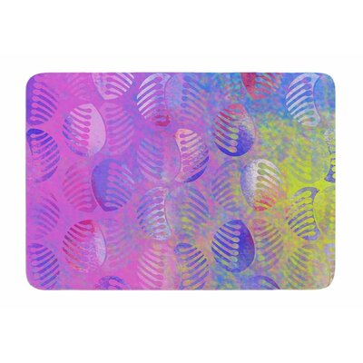 Poddy Combs Subtle Pastels by Dan Sekanwagi Bath Mat