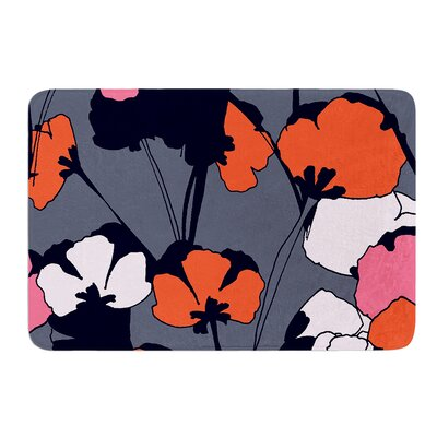 Pop Flowers by Gabriela Fuente Bath Mat Size: 24 W x 36 L