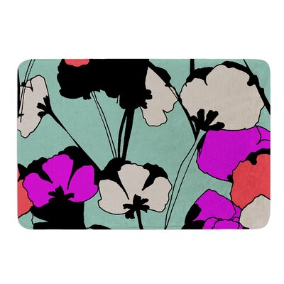 Vintage Flowers by Gabriela Fuente Bath Mat Size: 17W x 24L