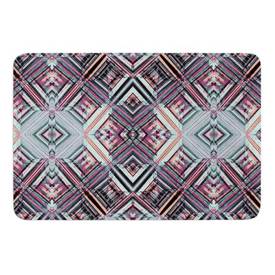 Watercolor Caledoscope by Gabriela Fuente Bath Mat Size: 17W x 24L