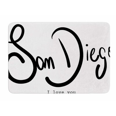 San Diego I Love You by Gabriela Fuente Bath Mat