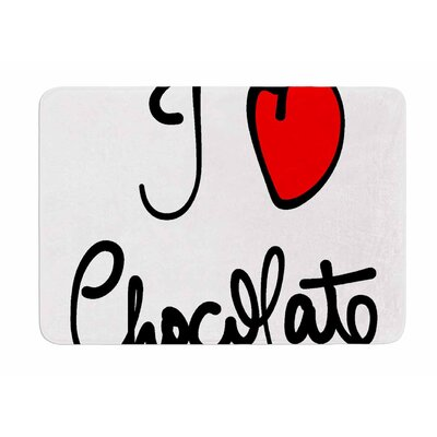 I Love Chocolate by Gabriela Fuente Bath Mat