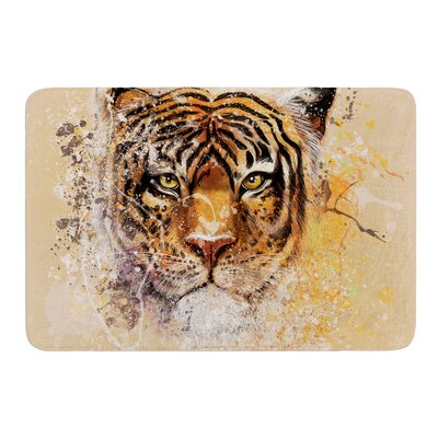 My Tiger by Geordanna Cordero-Fields Bath Mat Size: 17W x 24L
