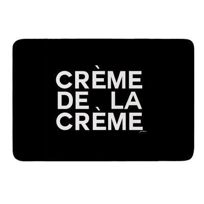 Creme De La Creme by Geordanna Cordero-Fields Bath Mat Size: 24 W x 36 L