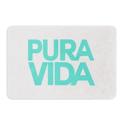 Turquoise Pura Vida by Geordanna Cordero-Fields Bath Mat Size: 17W x 24L