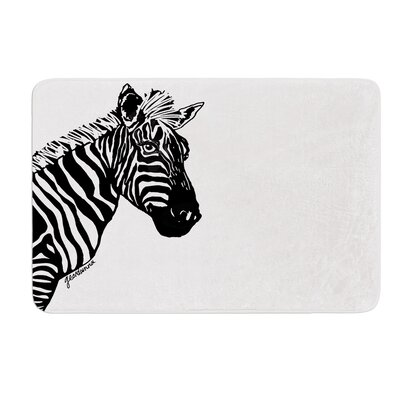 My Zebra Head by Geordanna Cordero-Fields Bath Mat Size: 17W x 24L