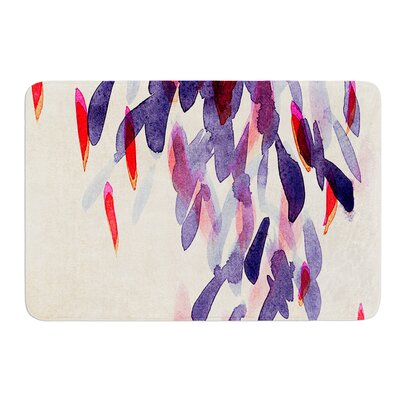 Abstract Leaves IV by Iris Lehnhardt Bath Mat Size: 24 W x 36 L