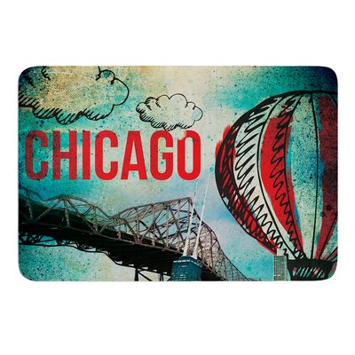 Chicago by iRuz33 Bath Mat Size: 17w x 24L