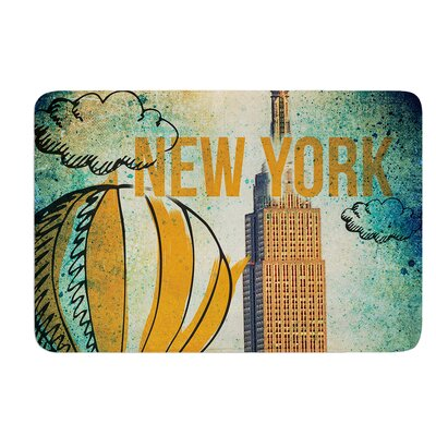 New York by iRuz33 Bath Mat Size: 24 W x 36 L