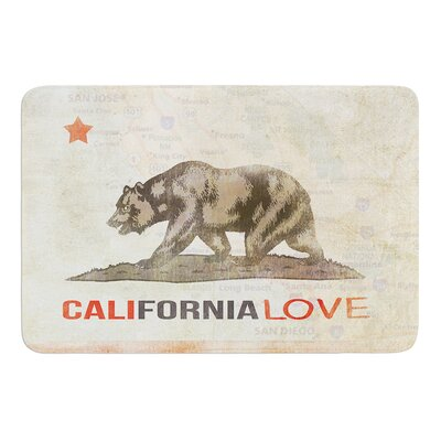 Cali Love by iRuz33 Bath Mat Size: 24 W x 36 L
