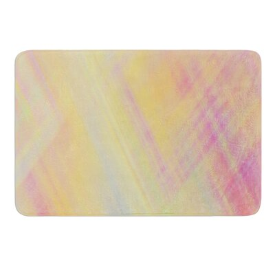 Pastel Abstract by Ingrid Beddoes Bath Mat Size: 17w x 24L