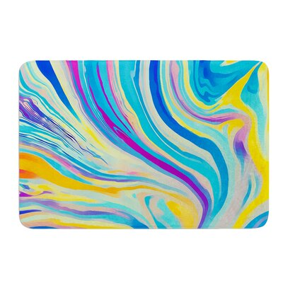 Rainbow Swirl by Ingrid Beddoes Bath Mat Size: 24 W x 36 L