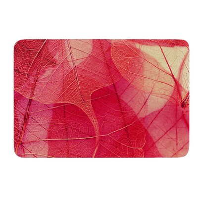 Delicate Leaves by Ingrid Beddoes Bath Mat Size: 17w x 24L