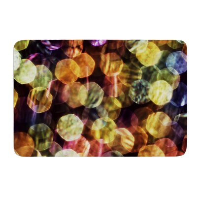 Warm Sparkle by Ingrid Beddoes Bath Mat Size: 24 W x 36 L