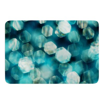 Shades of Blue by Ingrid Beddoes Bath Mat Size: 17w x 24L