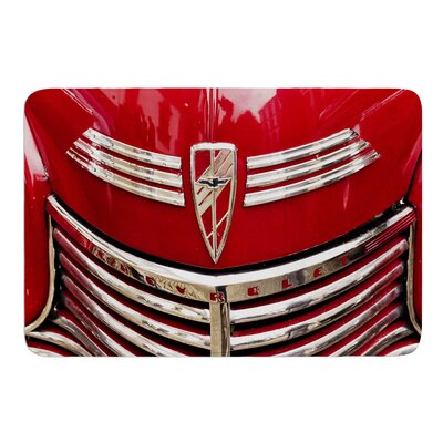 Red Chevy by Ingrid Beddoes Bath Mat Size: 17w x 24L