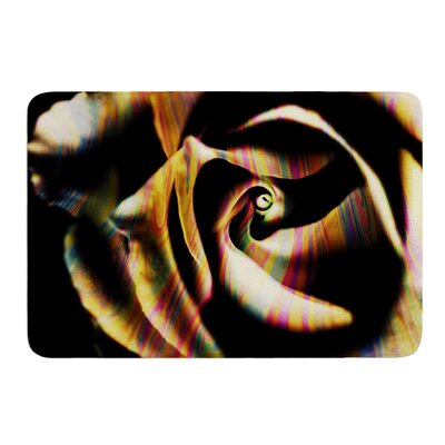 Rose Swirl by Ingrid Beddoes Bath Mat Size: 17w x 24L