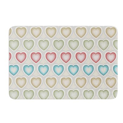 My Hearts by Julia Grifol Bath Mat Size: 17 W x 24 L