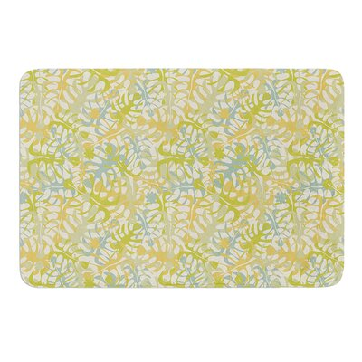 Warm Tropical Leaves by Julia Grifol Bath Mat Size: 17 W x 24 L