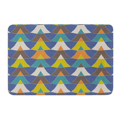 Colorful Triangles by Julia Grifol Bath Mat Size: 24 W x 36 L
